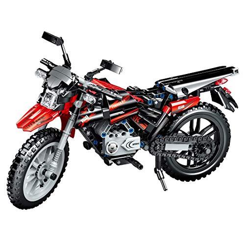 tecnología motocicleta, 518 bloques de sujeción tecnología bicicleta de montaña modelo de motocicleta, bloques de construcción kit compatible con Lego Technic (Ql0440)