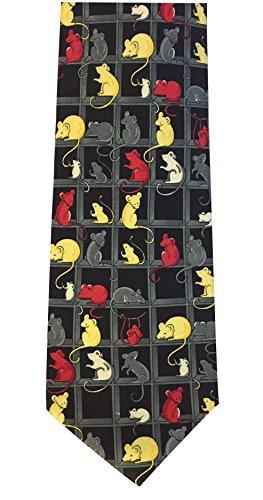 The Tie Studio Novedad corbata con ratones y ratón de diseño