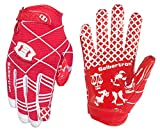 Seibertron Pro 3.0 Twelve Constellations Elite Ultra-Stick Sports Receiver Glove Football Gloves Youth (red, XS)