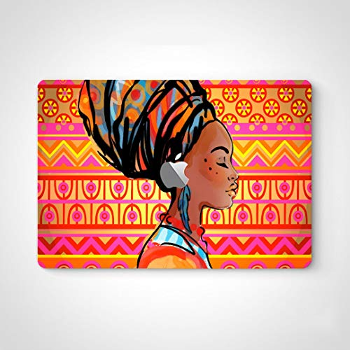 Mac Laptop Decal Stickers African Beautiful Drawn Woman Portrait Laptop Vinyl Stickers Decal para Macbook Air 13'Pro 13' / 15'/ 16' 2008-2020 Version Laptop Keyboard Decal Sticker