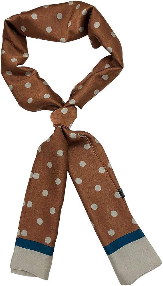 Women's Versatile Silk Feeling Floral Printed Rectangle Satin Neck Scarf