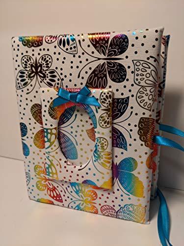 Butterfly Photo Album, Girl Photo Album, Personalized Album, Baby Shower Gift, Brag Book - 7x5 Album-Holds 100 4 x 6 Photos - Handmade Photo Album