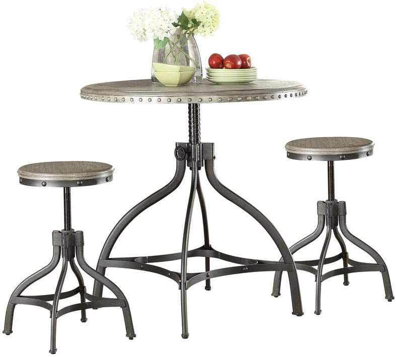 ACHICOO Exquisite Counter Height Set 3Pc Meta Oak Pk in Jacksonville Mall Gray 2021 spring and summer new