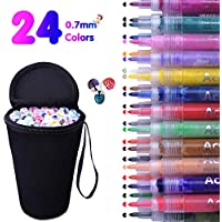 24-Count Water Based Acrylic Paint Permanent Marker Pens