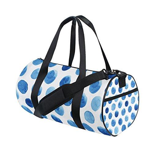JSTEL Polka Dot Sports Gym Bag for Women and Men Travel Duffel Bag