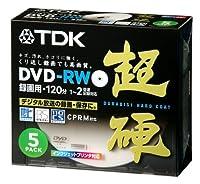 TDK 超硬DVD-RW 1-2倍速対応録画用 ホワイトプリンタブル 5枚パック DRW120HCDPA5S
