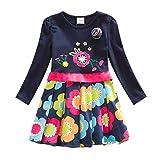 IPBEN Robes Fille Coton Cartoon Manche Courte/Manches Longues Princesse Casual Enfant...