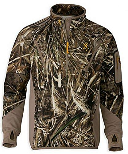 Browning Wicked Wing Smoothbore 1/4 Zip Top,Mossy Oak Shadow Grass Blades,S 3016152501