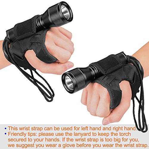 ORCATORCH D550 Dive Light 1000 Lumens Scuba Dive Torch Diving Light Submarine Flashlight with 3400mAh Battery, Charger, Wrist Strap, Lanyard, Waterproof O-Rings