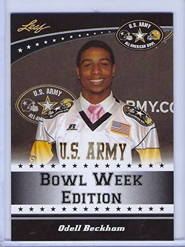 ODELL BECKHAM JR 2011 LEAF U S ARMY HIGH SCHOOL ALL AMERICAN ROOKIE CARD W H TOPLOADER product image
