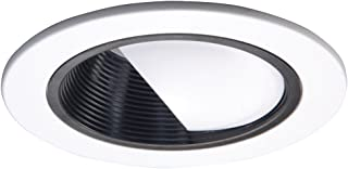 HALO Recessed 992P 4-Inch Trim Wall Wash and Scoop, Black Baffle, White