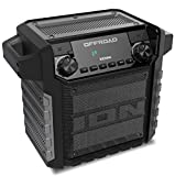 ION Audio Offroad 50 Watt Outdoor-Lautsprecher mit langlebigem Akku, Wasserabweisenden Design nach US-Standard IPX4, Bluetooth-Streaming