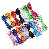TUPARKA 1 mm Bracciale elastico in cordino elastico colorato Elastico 15 pezzi x 4m