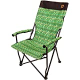 Kazmi Easy Relax Camping Chair – Folding Portable Outdoor Chair with Durable Carry Bag - Lightweight, Supports 265lbs for Backpacking, Hiking, Picnic, Festival