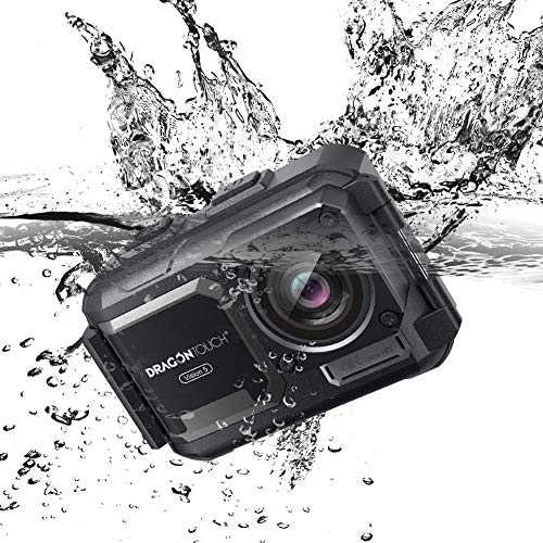 Dragon Touch 4K Action Camera 16MP 131ft Waterproof Camera Without Case Vision 5