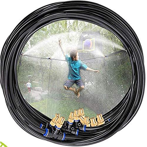 Trampoline Arroseurs Jouet, Enfants Spray Parc Aquatique d'eau Accessoires, Conçu Attacher sur Le Trampoline Enclos Filet Sécurité 15M Jeux D'été