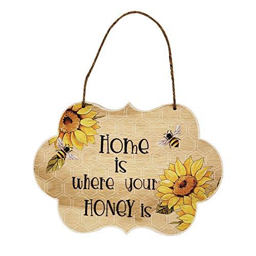 Pendentif Abeille en Bois Ornement De Ruche Abeille en Bois Suspendue Décor De Jardin Pendentif en Bois Festival De L'abeille pour Salons, Chambres, Têtes De Lit