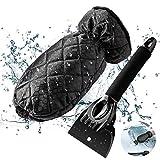 GEMWON Car Ice Scraper, Snow Scraper Tool with Warm & Waterproof Glove for Windshield, Windscreen, Frost Day