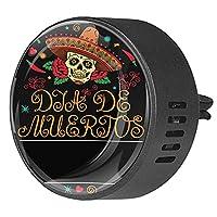 車のアロマセラピーディフューザーベントクリップフレームメキシコの頭蓋骨 2パック芳香剤香の香り