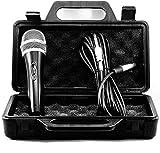 TronicXL - Set de micrófono dinámico de 5 metros de largo con cable jack de 6,35 mm universal micrófono de mano para cantar moderación escenario karaoke boda voz micrófono cantante maletín
