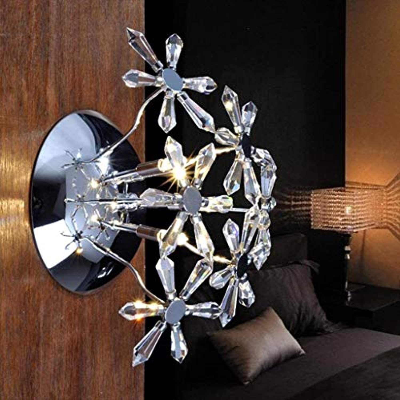 FuweiEncore Crystal Wandleuchte Modern, einfach, Irons Flur Korridor Flur Beleuchtung WC (Farbe   -, Gre   -)