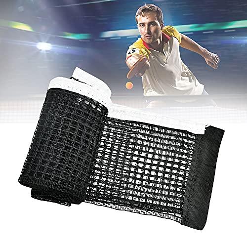 BUENTYA 2 Stück Tischtennisnetz Polyester Tischtennis Ersatznetz Multifunktional Tisch Tennis Netz Ohne Halterung Ping Pong Netz für Tischtennis Spielen Drinnen und Draußen 178 * 15cm (Schwarz)
