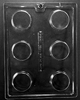 Plain Cookie Chocolate Candy Mold - 3 Count