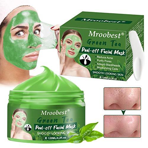 Blackhead Remover Maschera, Deep Cleansing Mask, Maschera Punti Neri, Tè Verde Peel Off Maschera, Pulizia profonda dei pori, Pe