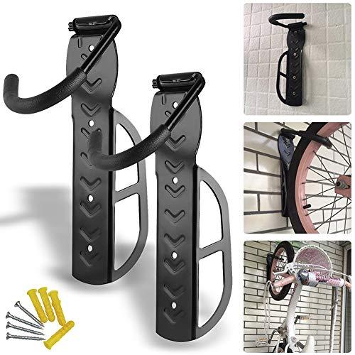 BESTEU Faswin - Soporte de pared para bicicleta (sistema de almacenamiento vertical), negro, 10.2â€â€x3.15â€â€