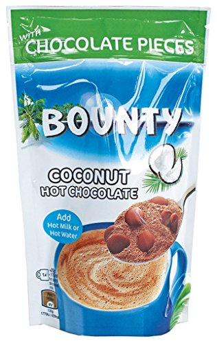 Bounty Coconut Hot Chocolate with Chocolate Pieces 140g