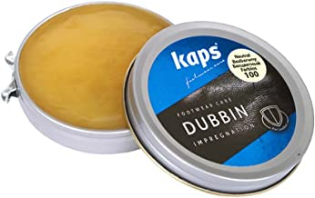 Kaps Quality Shoe Dubbin Wax, Nourishment And Waterproofing For Leather, Dubbin (Transparent, 50Ml)