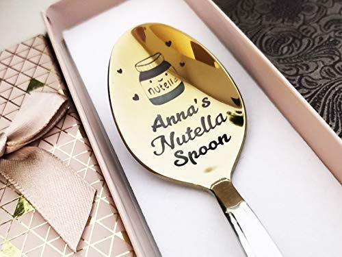 Nutella Cuchara en caja de regalo – Nutella spoon – Cucharas personalizadas – Cuchara para amante de Nutella – Recuerdo personalizado