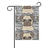 MALPLENA Malplee Flagge zum Aufkleben der Zunge Bulldogge Malerei Flagge Garten Premium Schimmelresistent Gartenflagge, Polyester, 1, 28x40(in)
