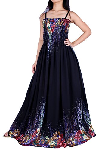 MayriDress Maxi Dress Plus Size Clothing Black Ball Gala Party Sundress Designer (3X, Black/Colorful Floral)