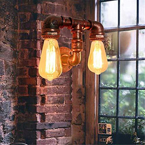 LED-Wandleuchte Wasserpfeife Doppelkopfleuchten Industrielle Vintage Wandleuchten Indoor E27 Montagelampe Antikmetall Für Wohnkultur Pub Loft Cafe Hotel Galerie Bar Treppenwand Spots