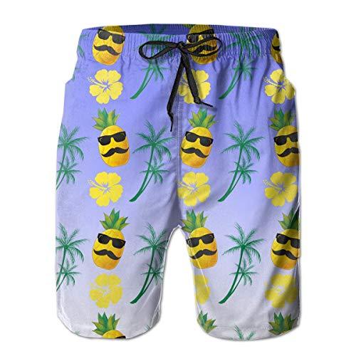 VLOOQ-HX Piña con Gafas de Sol para Hombre Hibiscus Coconut