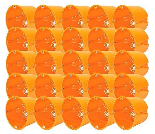 25 Stk Hohlwanddose Schalterdose Hohlraum HW Dose flach 68x61mm