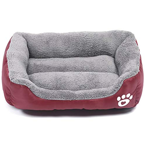 Modern Ultra Soft Warm Pet Bed Puppy Dog Mat Pad Cat Sleeping Cushion Suits for Daily Use Extra Large: 31'x25'x6' (80x63x16cm), Red