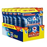 Finish Todo en 1 Max Regular Pastillas para Lavavajillas - 132 Unidades