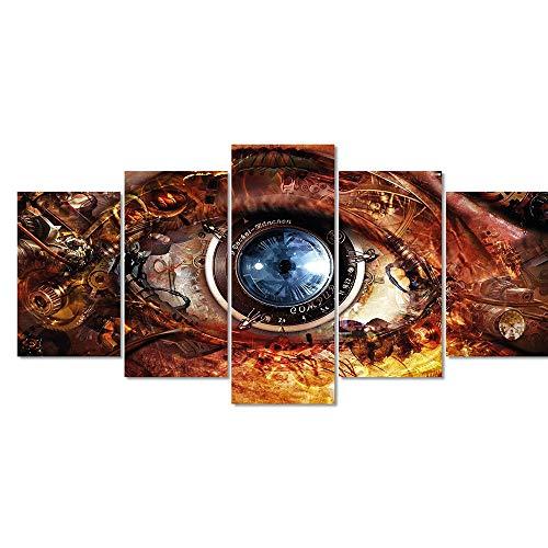 Quadro Decorativo Olho Surrealista Psicologia Sala Entrada