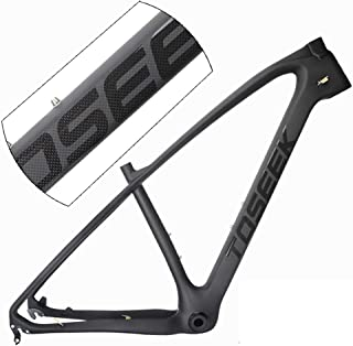"3k Carbon Fiber Mountain Bike Frame T800 Ultralight 29"" MTB Matte Black Unibody Internal Cable Routing BB68,29 * 17inch"