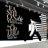 抽象的な手描きのファッション美容アートウォールペインティング女性服ショップ壁壁画自己粘着ウォールステッカー