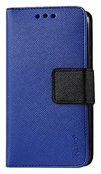 Reiko with Interior Polymer Wallet Case for ZTE Warp Elite N9518 - Retail Packaging - Navy