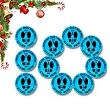 """WDC Social Distance Floor Stickers, 10-Piece Social distancing Signs Stickers Pack. Blue Anti-Slip, Commercial Grade, Durable and Waterproof 6 feet Apart 12"""" Round Bulk Big Stickers Floor Decal."""
