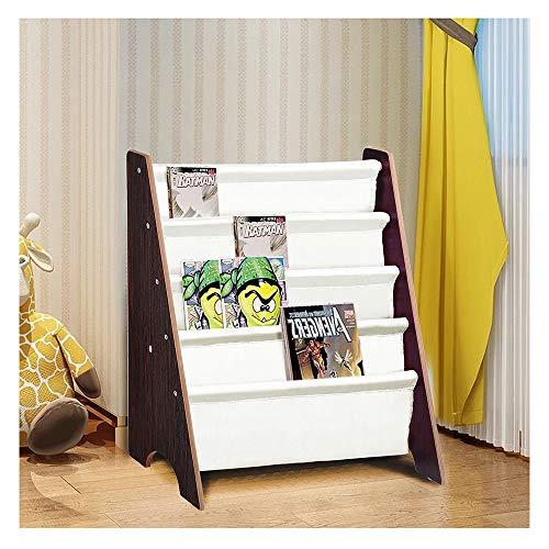 Eden's box Houten Kinderboekenkasten Kids Boek Plank Sling Opslag Rek Organizer Display Houder Kwekerij Kamer Walnoot