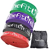TheFitLife トレーニングチューブ 筋トレチューブ 懸垂チューブ(4色セット)