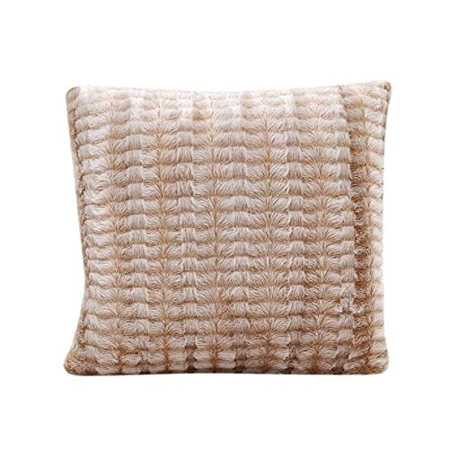 Pillow Covers, yistu Stripe Pillow 43 cmx43 cm Decorative for Sofa, Bed, Car (Khaki)
