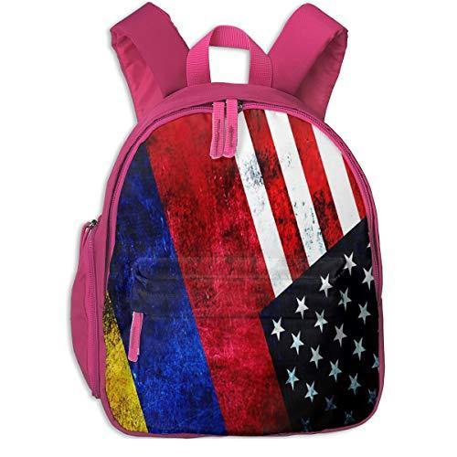 Mochila para Niños Colombia USA Flag, Mochila Escuela Primaria de Edad Peso Ligero Pérdida Mochila de Viaje para Chico Chica