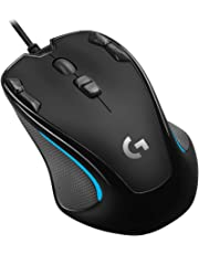 Logicool G ゲーミングマウス G300Sr ブラック usb 有線 82g 軽量 ゲームマウス 左右対称 多ボタン G300 国内正規品 2年間メーカー保証