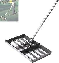 WSVULLD Golf Golf Garden Grass, met 43In handvat, zware roestvrijstalen rechte grote capaciteit Lawn Push Tool Golf Equipment